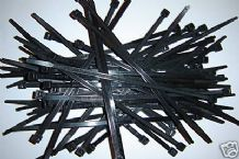 Cable tie (Black) 370mm long x 4.8mm width. Pack of 100